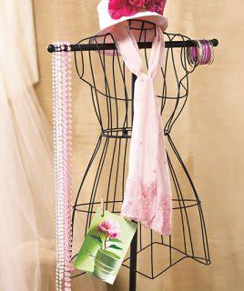 Vintage Metal Wire Mannequin Dress Form Organizer Scarf Display Boutique Closet