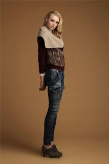 Retro Cowl Collar Soft Vest Coat Fleece Jacket Women's Faux Fur Leather Outwear