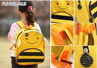 Cute Cartoon Animal Kids Pack Boys Girls Schoolbag Baby Infant Canvas Lunch Bag