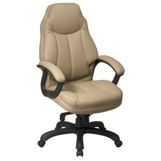 Tan Leather Deluxe High Back Executive Office Chair