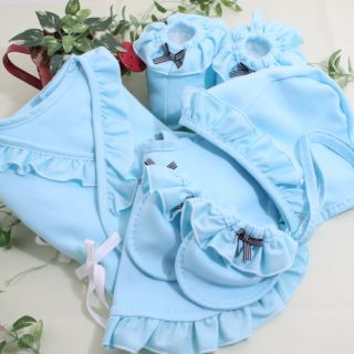 Customized Homemade Blue Clothing Sleepers Lot Gifts for Newborn Baby Boys Set