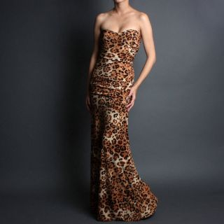Formal Fitted Strapless Party Evening Gown Cocktail Long Maxi Dress Sz s M L