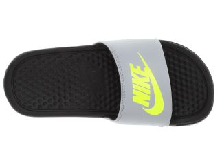 Nike Kids Benassi JDI (Little Kid/Big Kid) Stadium Grey/Black/Volt