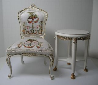 1 6 Scale Custom Furniture for Barbie or Fashion Royalty WT Chair Table Set