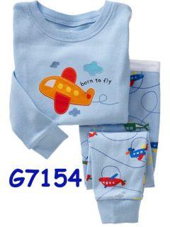 Baby Toddler Kid's Boys Girls Sleepwear Pajama Set 8 Type Size 2T 7T