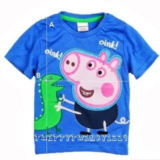 Baby Boys Peppa Pig George's T Shirt Top Blue 18 24M 2 3 Y 3 4 Y 4 5 Y 5 6 Y