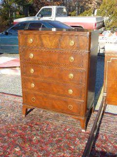 Antique Federal Mahogany Irwin Furniture Grand Rapids High Chest