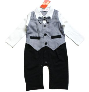 Baby Boy Formal Christening Suit Pageant Dress Wedding Clothes Birthday Gift