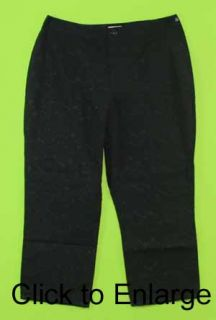 Liz Claiborne Michaela Sz 8 Black Capris Womens Pants Slacks 5H78