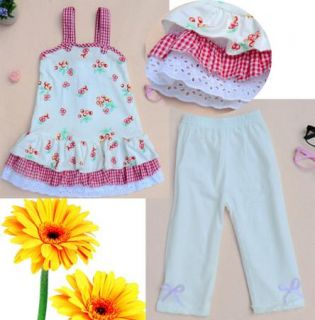 Baby Girls Clothing Tops Dress Leggings 2pcs Set 1 6Y Summer Kids Outfits Lovely