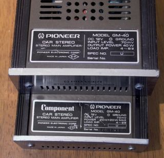 Vintage Pioneer Car Stereo KP 88g Cassette CD 5 EQ 2 GM 40 Amps Mei Crossover