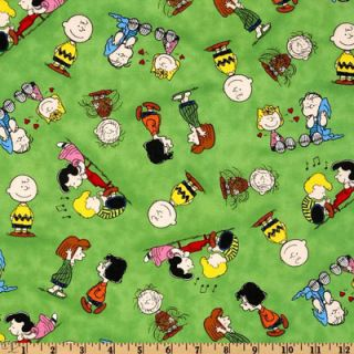 Happiness Is Peanuts Charlie Brown Lucy Sally Peppermint Patty Linus etc Green