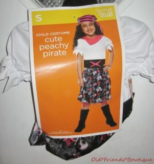 Girl Cute Peachy Pirate Child Costume s 4 6 Play Halloween Dress Up New
