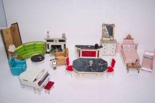 21 Lot 1964 Ideal Petite Princess Fantasy Dollhouse Furniture w Accessories