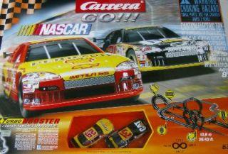 Carrera NASCAR Race Car Set Large Slot Racing Track