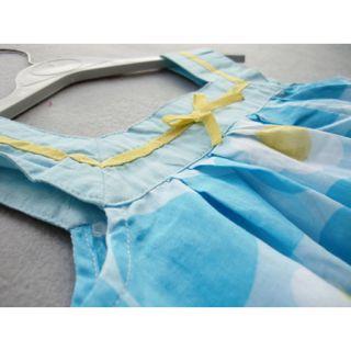 3 8 Years Children Baby Kids Girls Blue Summer Dress Braces Skirt D110