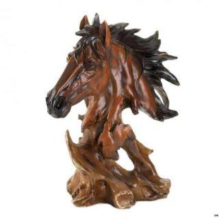 Spirit of The Stallion Horse Bust Figurine Statue