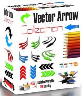 Color Arrows Vector Clipart for Vinyl Cutter Plotter Screen Printing EPS AI