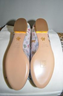 Charlotte Olympia Darcy Crepe Satin Poodle Dog Ballet Flats Shoes Sz 38 US 8