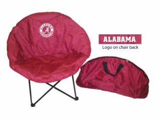 Alabama Crimson Tide Sphere Folding Chair Tailgate Dorm Room Rivalry Round  New
