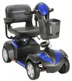"""Ventura 4 Wheel Mobility Scooter with Folding 18"""" Seat Power Electric Chair"""