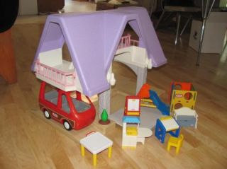 ... Large Little Tikes Purple Roof Dollhouse Furniture ...