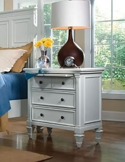 3 Drawer Nightstand with Pull Out Tray Ashby Bedroom ID 16730
