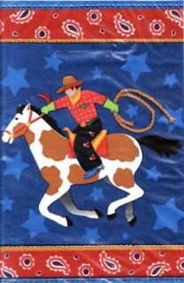 Western Theme Cowboy Party Loot Treat Sack Favor Bags 8ct Party Supplies
