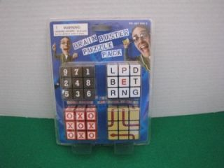 Brain Buster Puzzle Pack 4 Rubiks Cubes New in Package Mensa Toy Free SHIP