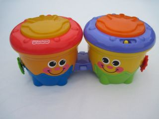 Fisher Price Drum Baby Crawl Around Musical Bongos