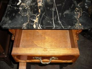 Victorian Antique Walnut Marble Top Night Stands BLOWOUT Sale