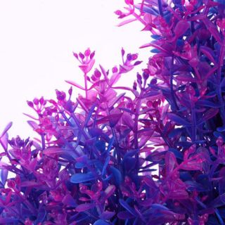 Purple Grass Plastic Aquarium Plants Tank Decoration