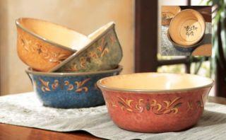 French Country Casa Cristina Cereal Salad Bowl Set 4