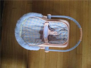 American Girl Bitty Baby Retired Doll Carrier Traveltime Car Seat EXC