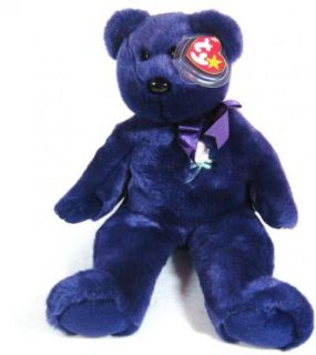 "Ty Beanie Buddy 14"" Diana Purple Bear 1998"