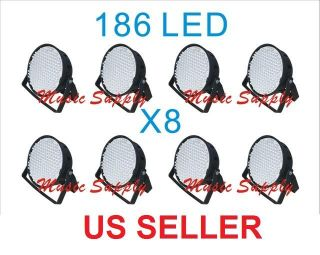 Lot Par Can DJ 186 LED Light RGBW 4 Color PAR64 8CH DMX Stage Party Show 8pcs