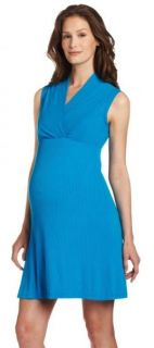 New Japanese Weekend Maternity D A Memory Ribbed Knit Nursing Dress $86