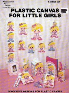 Plastic Canvas Pattern Booklet PC for Little Girls