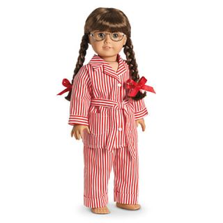 American Girl Molly's Striped Pajamas PJs for Doll Night Sleep New in Box