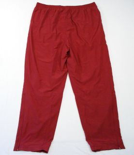 Adidas ClimaProof Mesh Lined Dark Red Warm Up Track Pants Mens