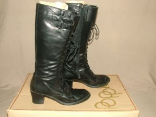 Vtg '80's Womens Poppies Leather Boots Sz 8 Kelly Bundy