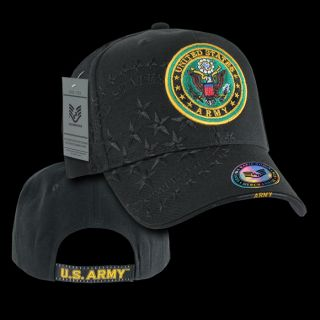 US Army Military Baseball Cap Ball Hat Shadow Caps Black