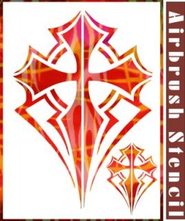 2 Cross Airbrush Stencil Pattern Artwork Home DIY Painting Party Decor 003027Y 9