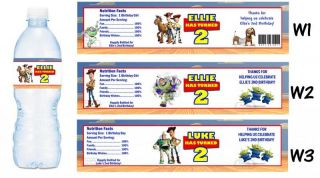 Toy Story Buzz Lightyear Printed Water Bottle Labels Birthday Party Favors 2 3