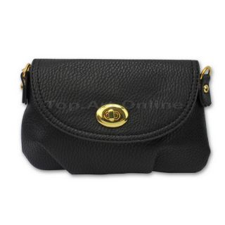 Black Women's Cross Body Handbag Shoulder Mini Bag Messenger Totes Faux Leather