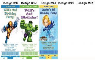 Marvel Super Hero Squad Birthday Party Ticket Invitations Supplies Favors