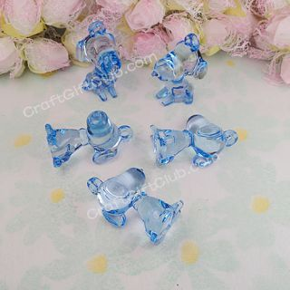 10 100 Snoopy Dog Acrylic Bead Baby Shower Confetti Decorate Pink Clear Blue