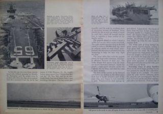 USS Enterprise Nuclear Aircraft Carrier CVAN6 Original 1962 Frank Harvey Article