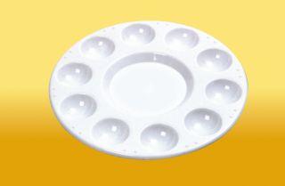 Paint Palettes Artist Pallette Plastic Aluminium Porcelain Round Oval Square