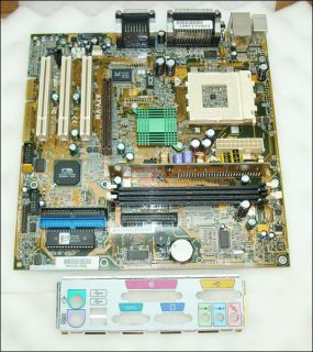 HP 5185 0439 Asus A7V VM Rev 2 02 Socket 462 Motherboard with I O Plate